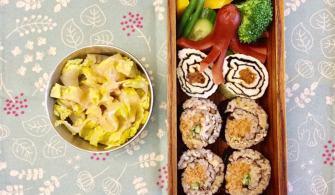 電子鍋煮不油膩台式油飯,再變身海苔壽司