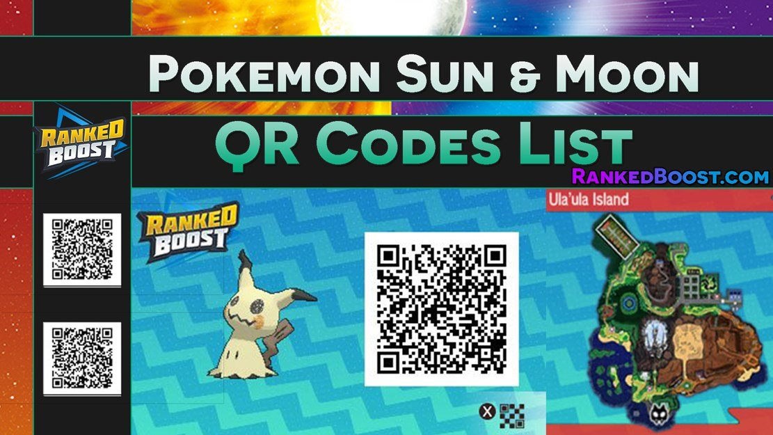 Pokemon Sun and Moon QR Codes All Pokemon QR Codes List