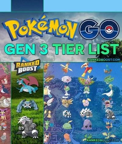 Pokemon GO Generation 3 MAX CP Chart Best Gen 3 Pokemon