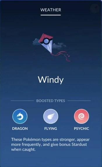 Pokemon GO Weather Chart Increased Spawn Rate and Bonus Stardust