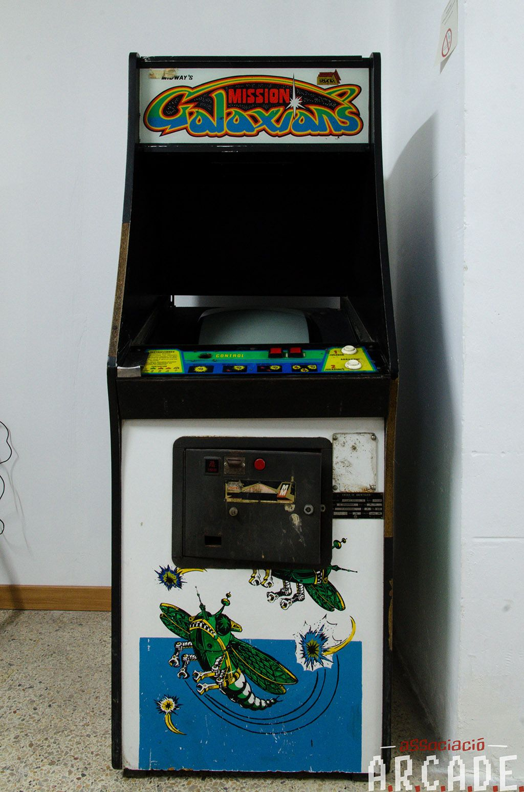 Mueble Arcade Mission Galaxians De Irecsa Máquina Recreativa