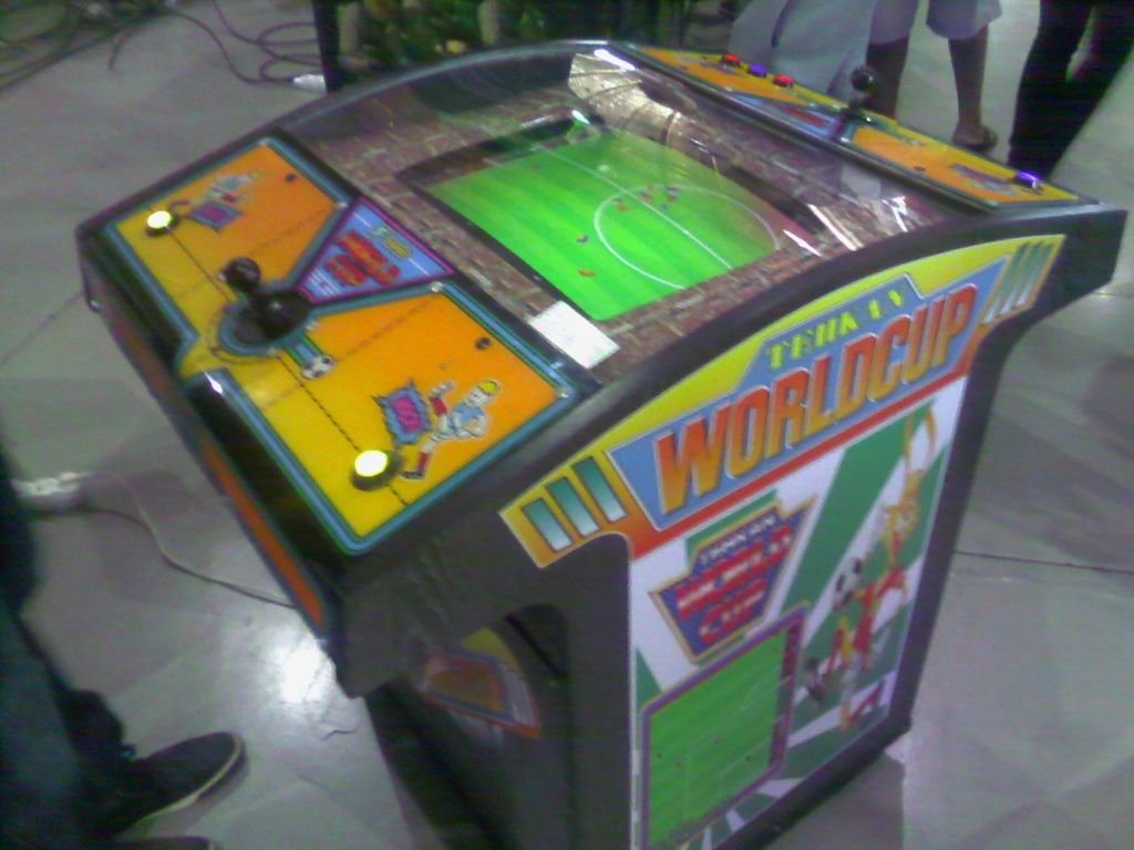 Mueble Arcade World Cup De Sega Sonic Máquina Recreativa