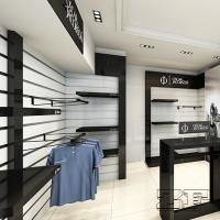 Decorative Wood Wall Mounting Shelves For Clothing Store ...