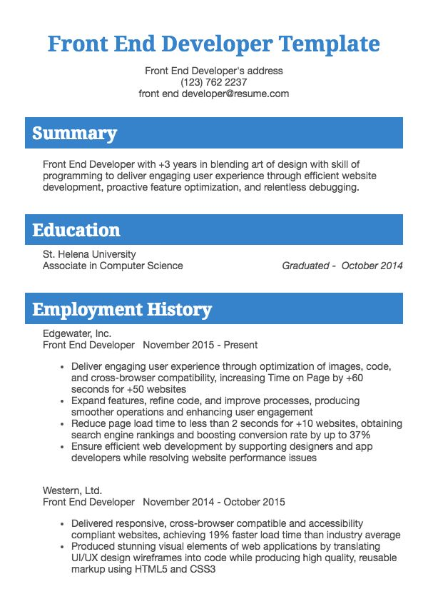 IT and developer resume examples Resume