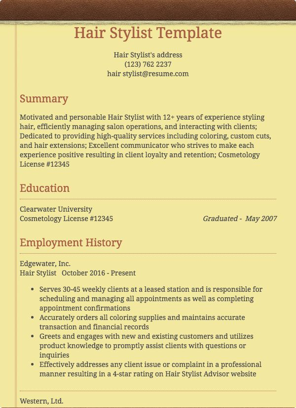 health and beauty resume samples Resume