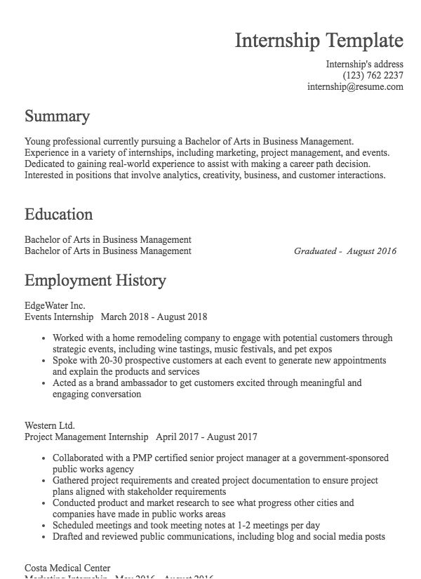 Resume Examples 2nd Job - Resume Writing Examples