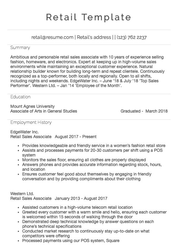 resume work experience how to write