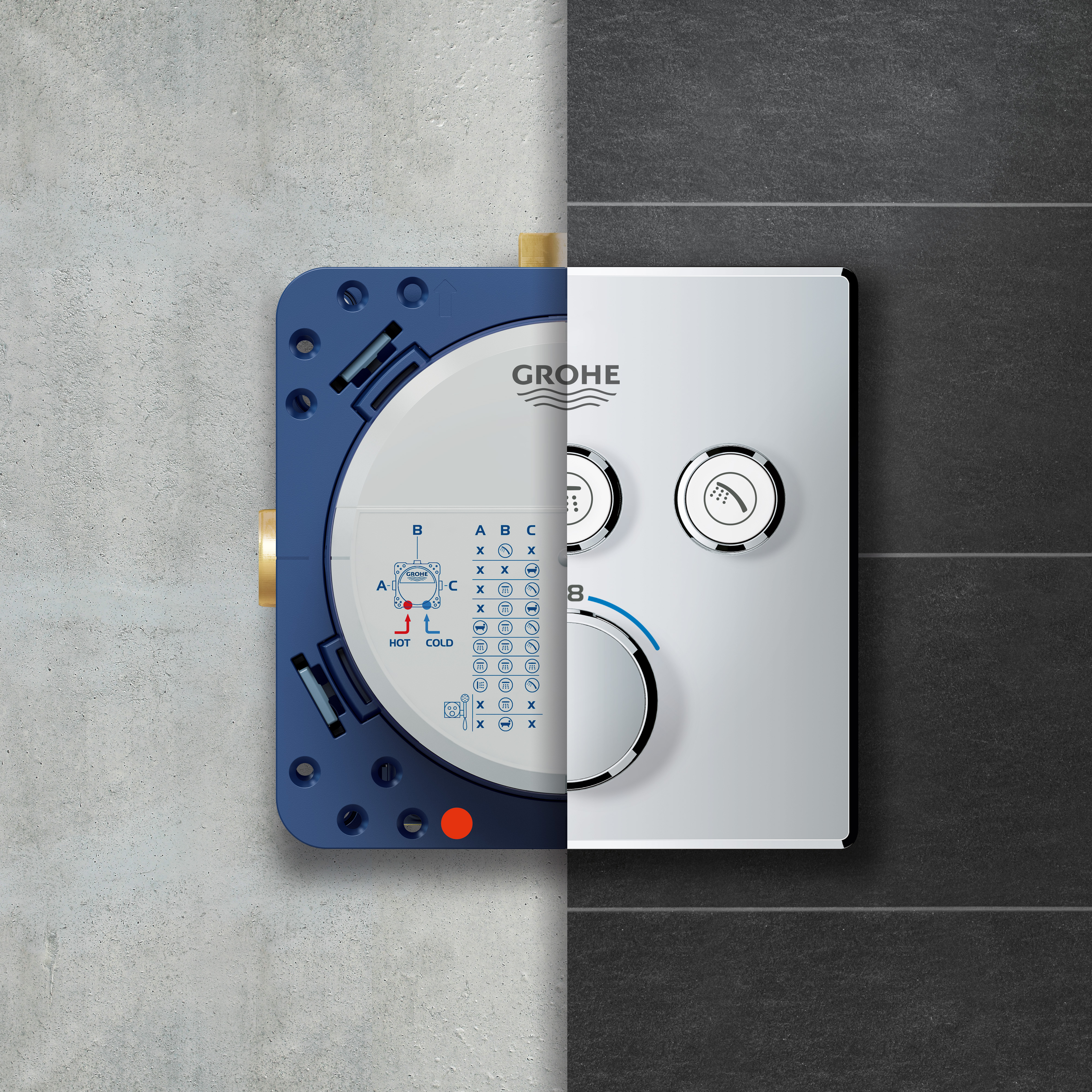 Grohe Rapido Smartbox Universal Concealed Installation Unit 35600000 Reuter