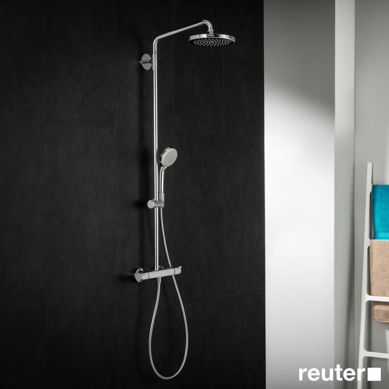 Jet Shower Hansgrohe Croma 220 Air 1jet Showerpipe - 27185000 | Reuter