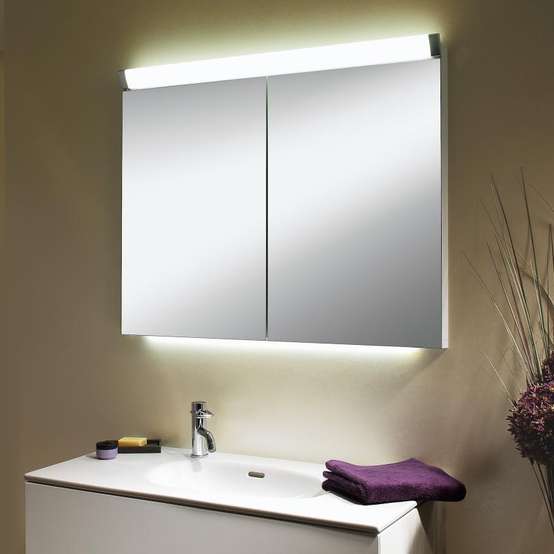 Schneider PALILINE Spiegelschrank Mit 2 Türen, Mit Beleuchtung   Badezimmer  Spiegelschrank 90