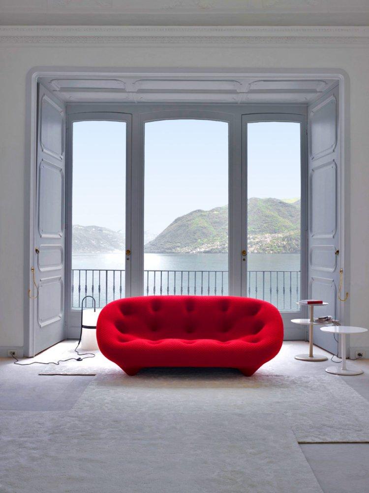 Ligne Roset Ploum sofa - like it in purple and teal colors $6,400