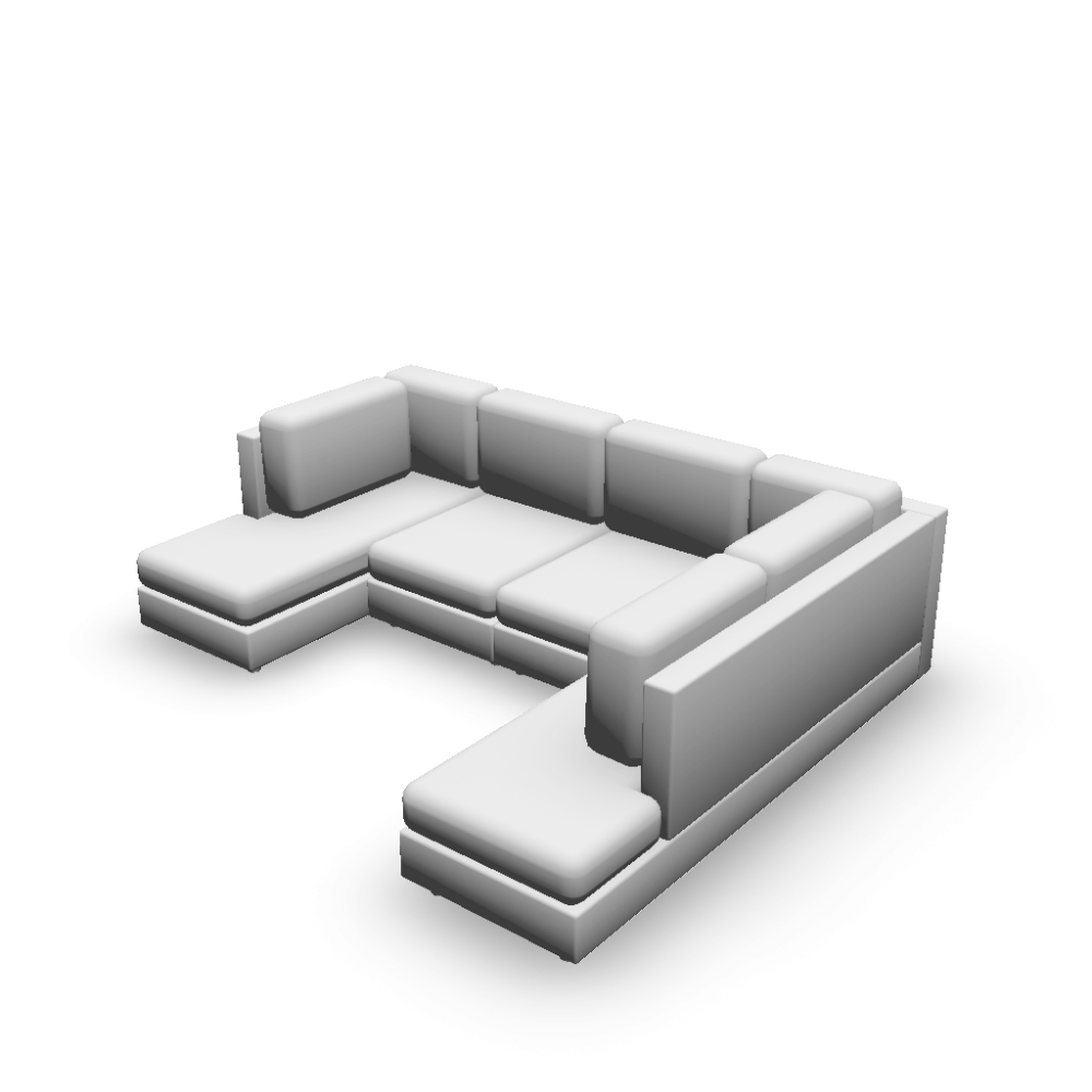 Couch U Form U Form Sofa Design And Decorate Your Room In 3d