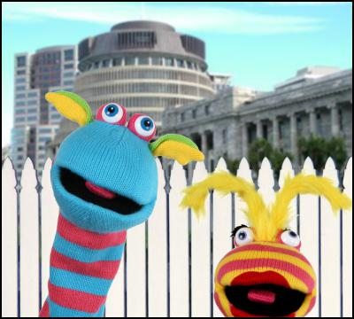 Puppets, beehive, parliament