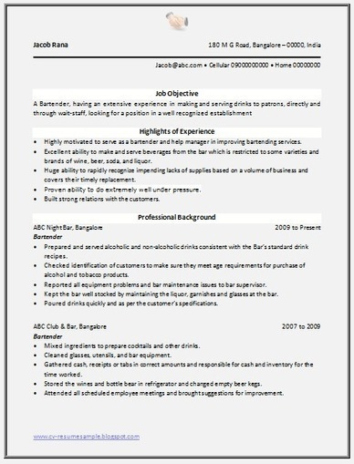 good resume template 2014