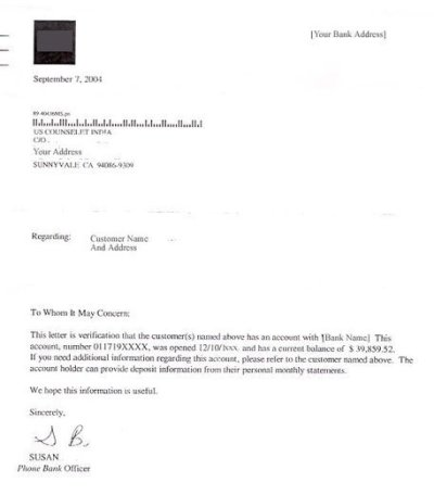Balance Confirmation Letter Sample