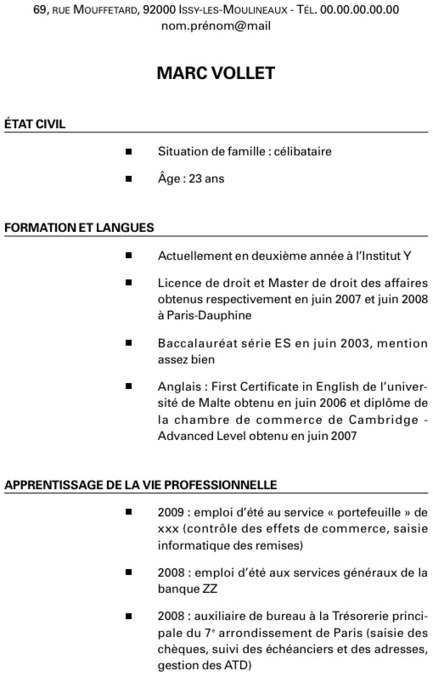 exemple de cv mecanique