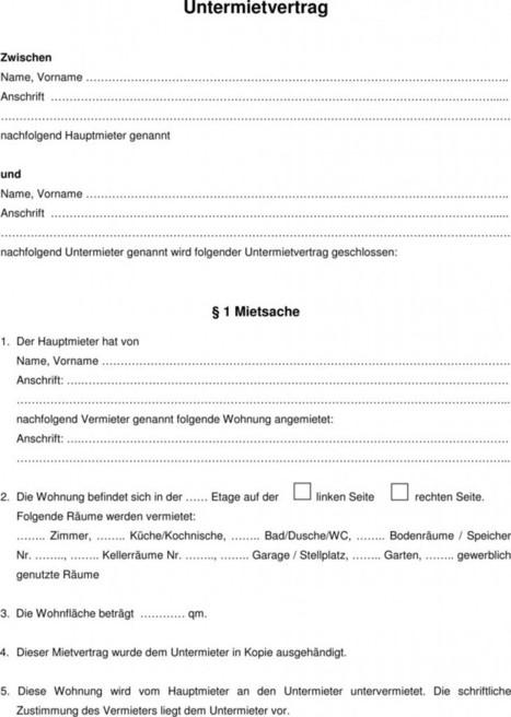 Hamburger Mietvertrag Download Kostenlos Word Vorlage