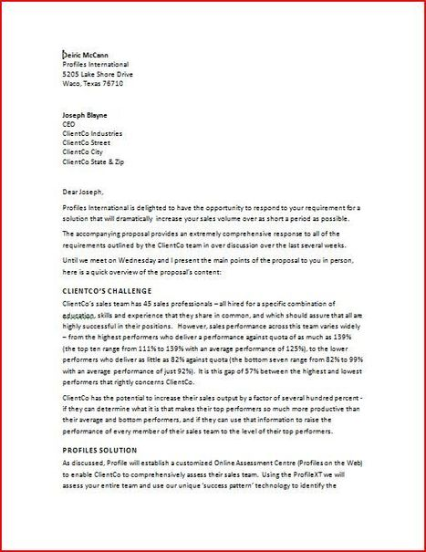 format business proposal cover letter sample cover letters p1 - Cover Letter Sample Format