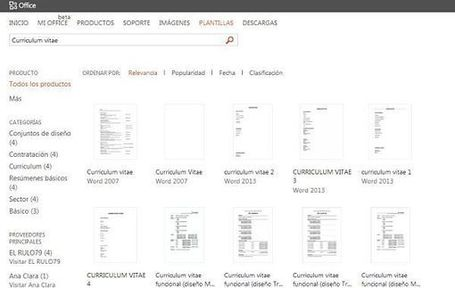 formatos de cv en word