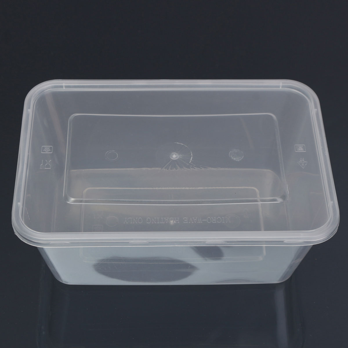 Plastic Containers With Lids 10x Plastic Containers Tubs Clear With Lids Microwave Food