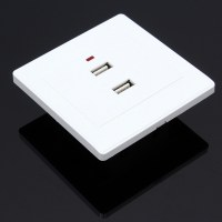 2.1A Dual USB Ports Wall Socket Charger Electrical Panel ...