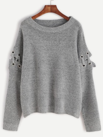 pull manche lacets shein