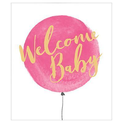 UK Greetings Welcome New Baby Girl Card from John Lewis at SHOPCOM UK - greeting for new baby girl
