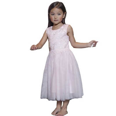 Designer Kidz Baby Girls Pink Lace Scarlet Tutu Flower Girl Dress 3