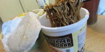新加坡。Super Cup Black Pepper Crab 黑胡椒蟹泡麵