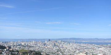 美國加州。舊金山。Cliff House。St. Mary's Cathedral。San Francisco Twin Peaks