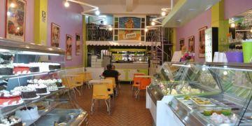 南美祕魯。阿雷基帕。Ice Palace。沒起司的牛奶冰淇淋~肉桂你好