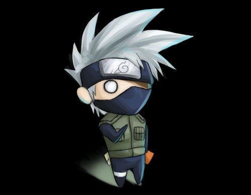 Wallpaper Hd Sharingan 火影忍者naruto人物插画:旗木卡卡西 Hatake Kakashi 3 设计之家