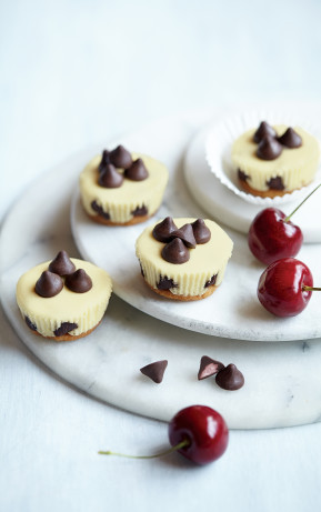 Paleo Mini Almond Cheesecakes with Cherry Flavored Filled DelightFulls
