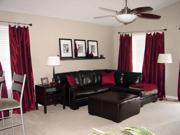 Living Room Red Gray Brownchocolate Brown And Red Living Room Grey - red and brown living room