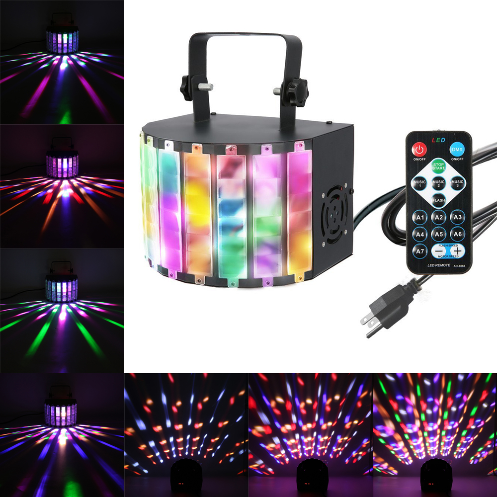 Led Disco Beleuchtung 9 Colors Sound Activated Stage Lights