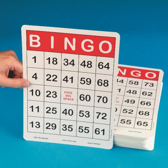 Buy Jumbo Bingo Cards at SS Worldwide