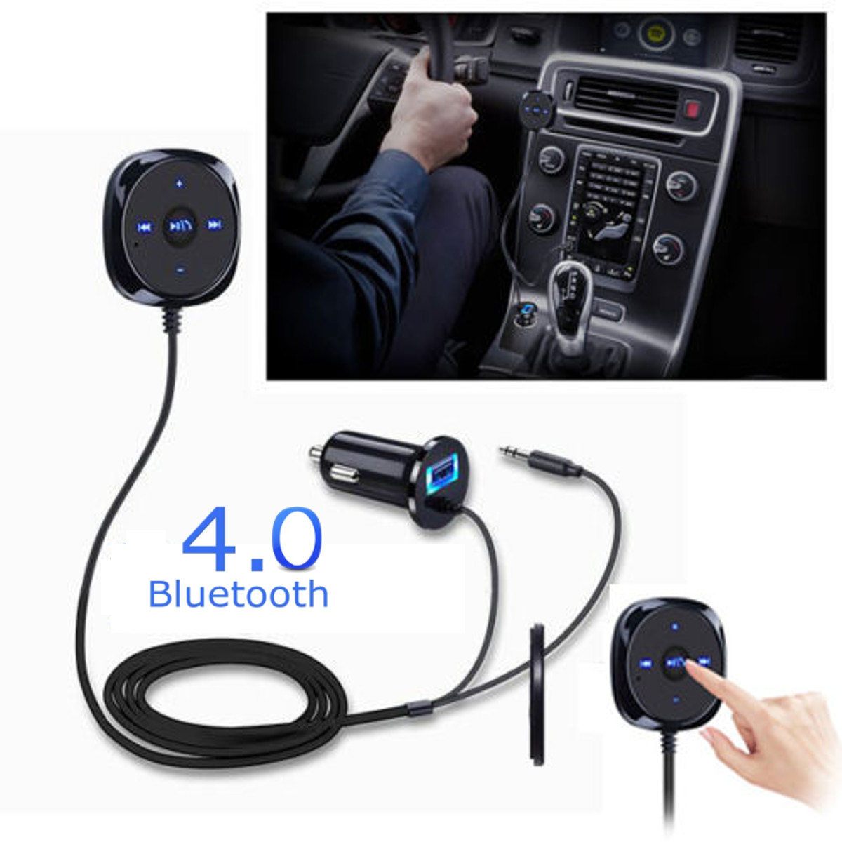 Instalar Manos Libres Coche Bluetooth 4 Wireless Music Receptor Adaptador De 3 5 Mm