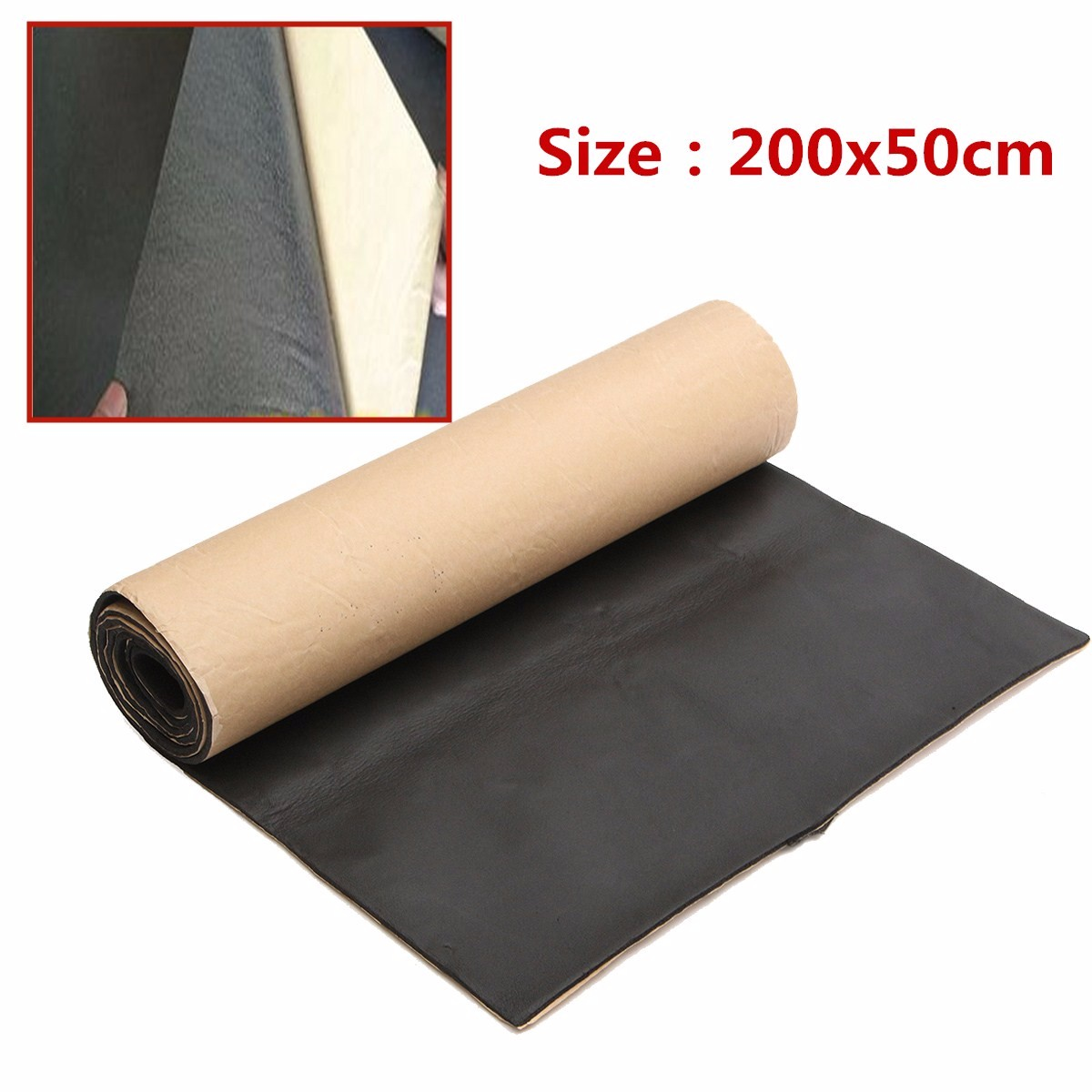 Closed Cell Foam Mat 200cmx50cm Car Sound Proofing Deadening Anti Noise Sound Insulation Cotton Heat Closed Cell Foam