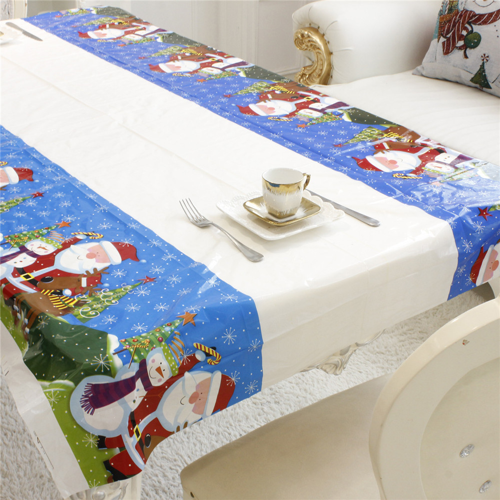 Christmas Tablecloths Australia 1pc 110x180cm Rectangular Disposable Table Cloth Christmas Tablecloth Printed Table Cover New Year Party Home Decoration
