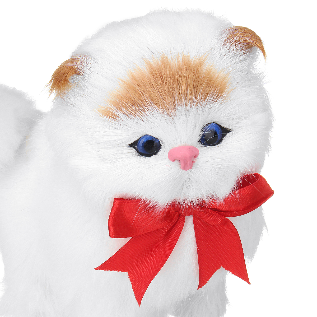 Cat Plush Toy White Cat Plush Toy Realistic Stuffed Plush Toy Animal Soft Doll Kid Gift Cuddle