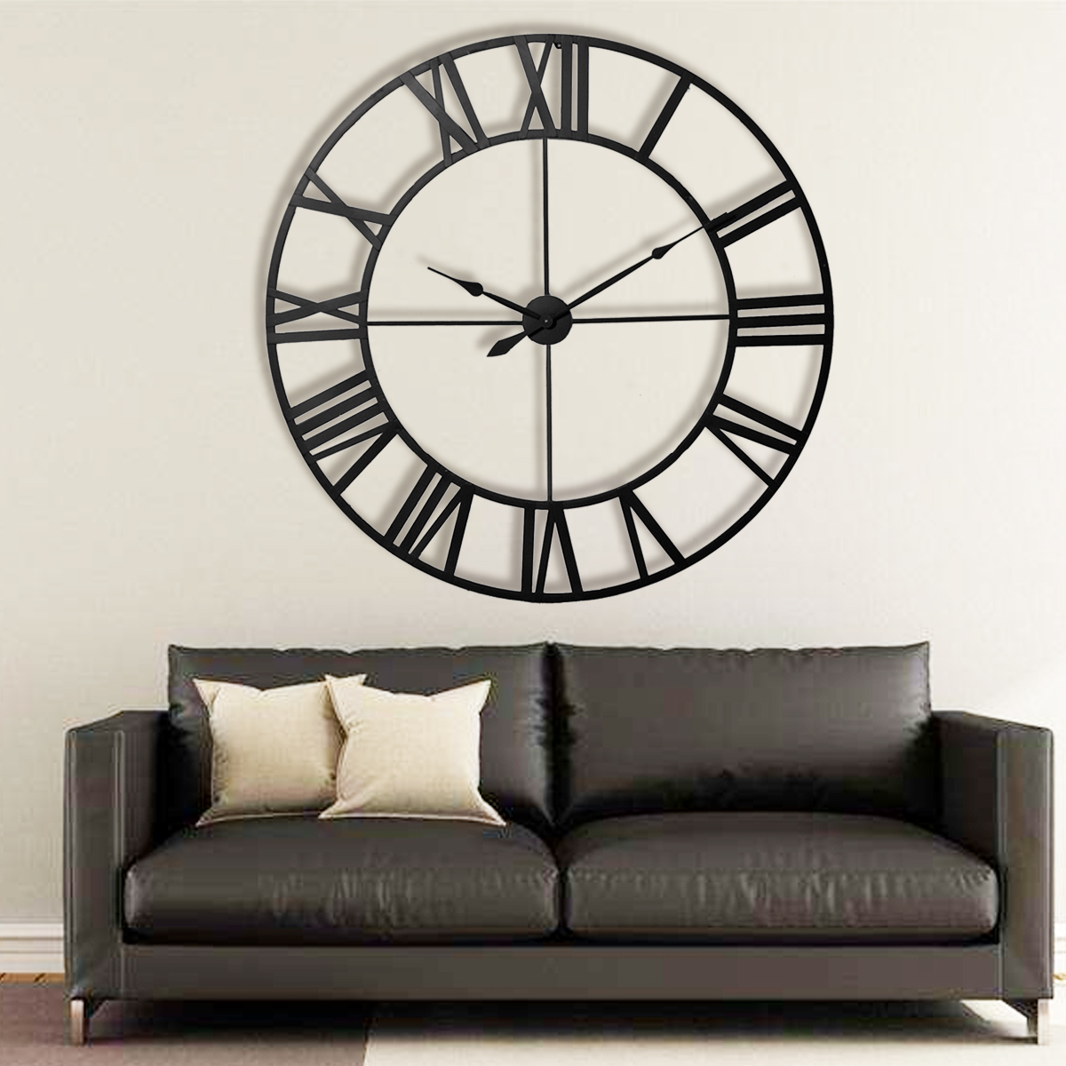 Sofa Bed Giant Malaysia 80cm Large Outdoor Garden Wall Clock Roman Numerals Giant Open Face Metal