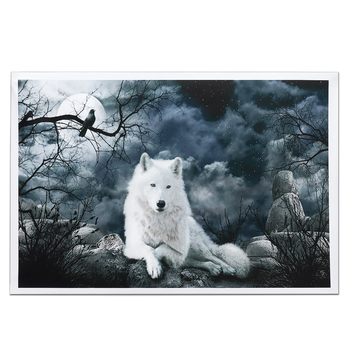 Wall Paintings For Sale White Wolf Stone Canvas Wall Paintings Frameless Pictur