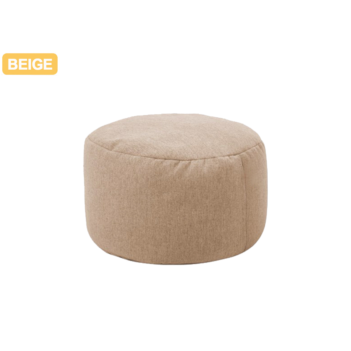 Sofa Rund Beige Small Round Bean Bag Beanbag Sofas Case Lounger Chair Lazy Sofa Cotton Linen Chair Cover Waterproof Gaming Bed Chair Seat Cushion