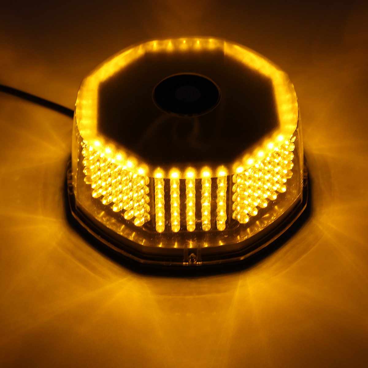 12 Volt Led Verlichting Knippert Amber 240 Led Beacon Car Light Knipperende Magnetische Noodwaarschuwing Strobe Lamp