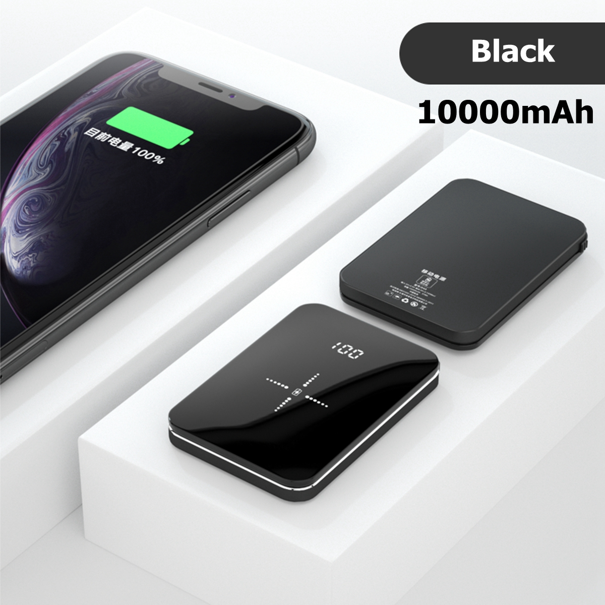 Wireless Battery Charger Qi Wireless 10000mah Wireless Charger Mini Power Bank Portable Battery Charger For Iphone Android