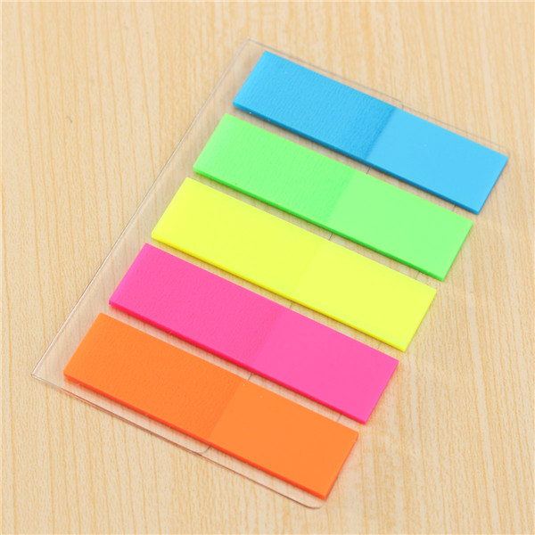 fluorescent multicolor sticky notes notes index tab memo page