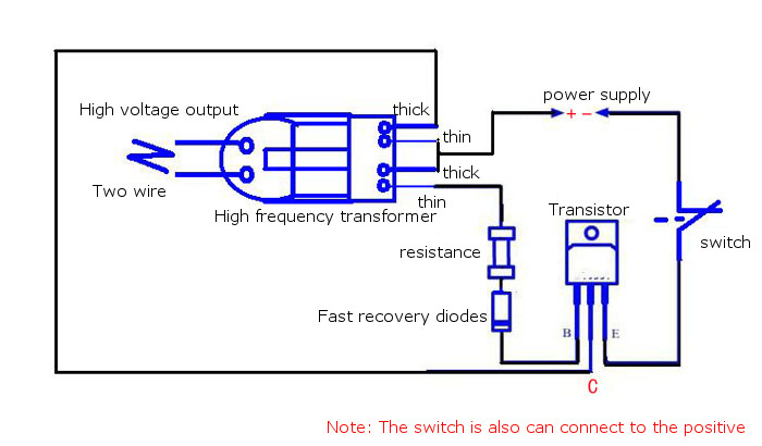 inverter boost high voltage generator 15kv high frequency