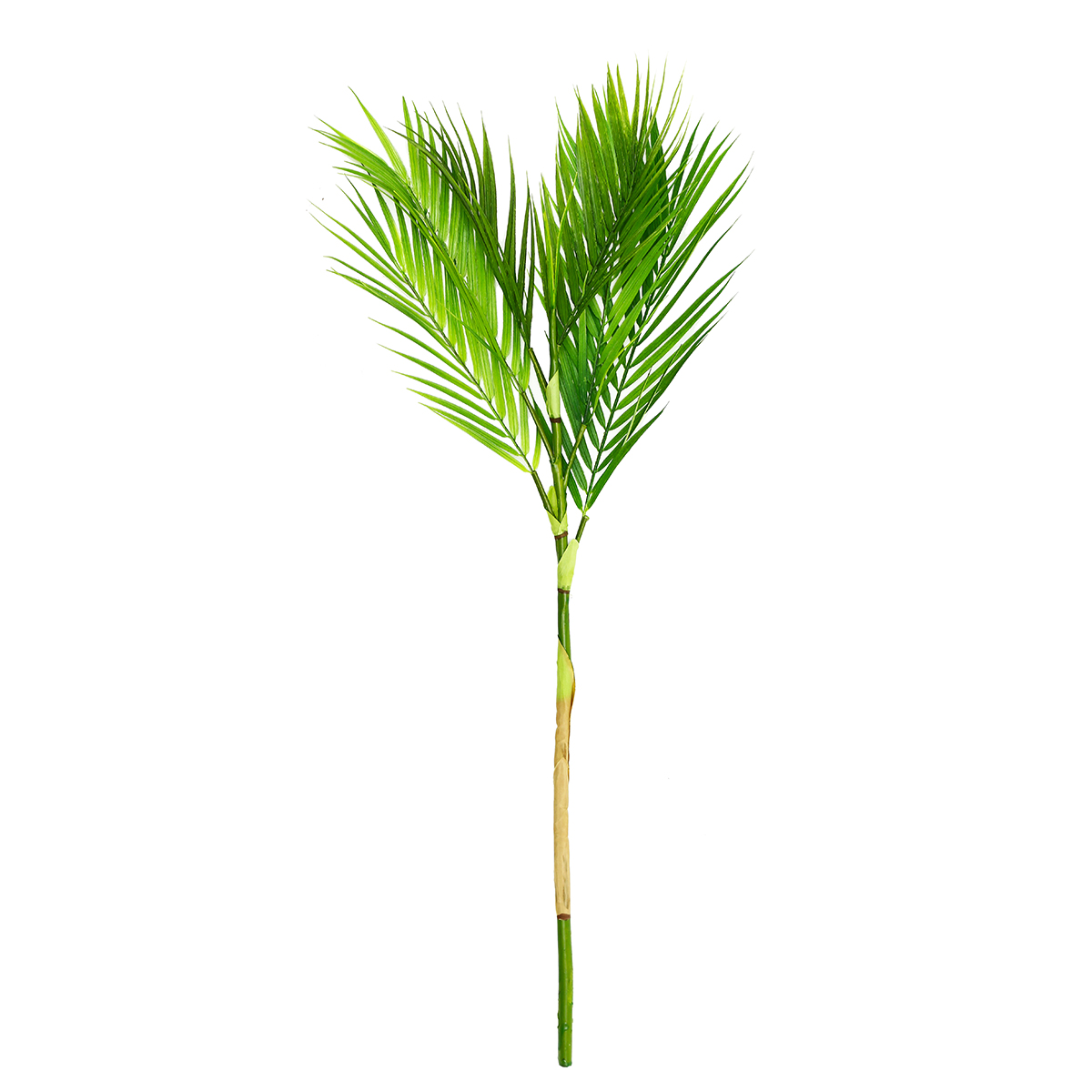 Artificial Chrysalidocarpus Lutescens Original 6 9 Branches Green Palm Leaves Plastic Fake Plant