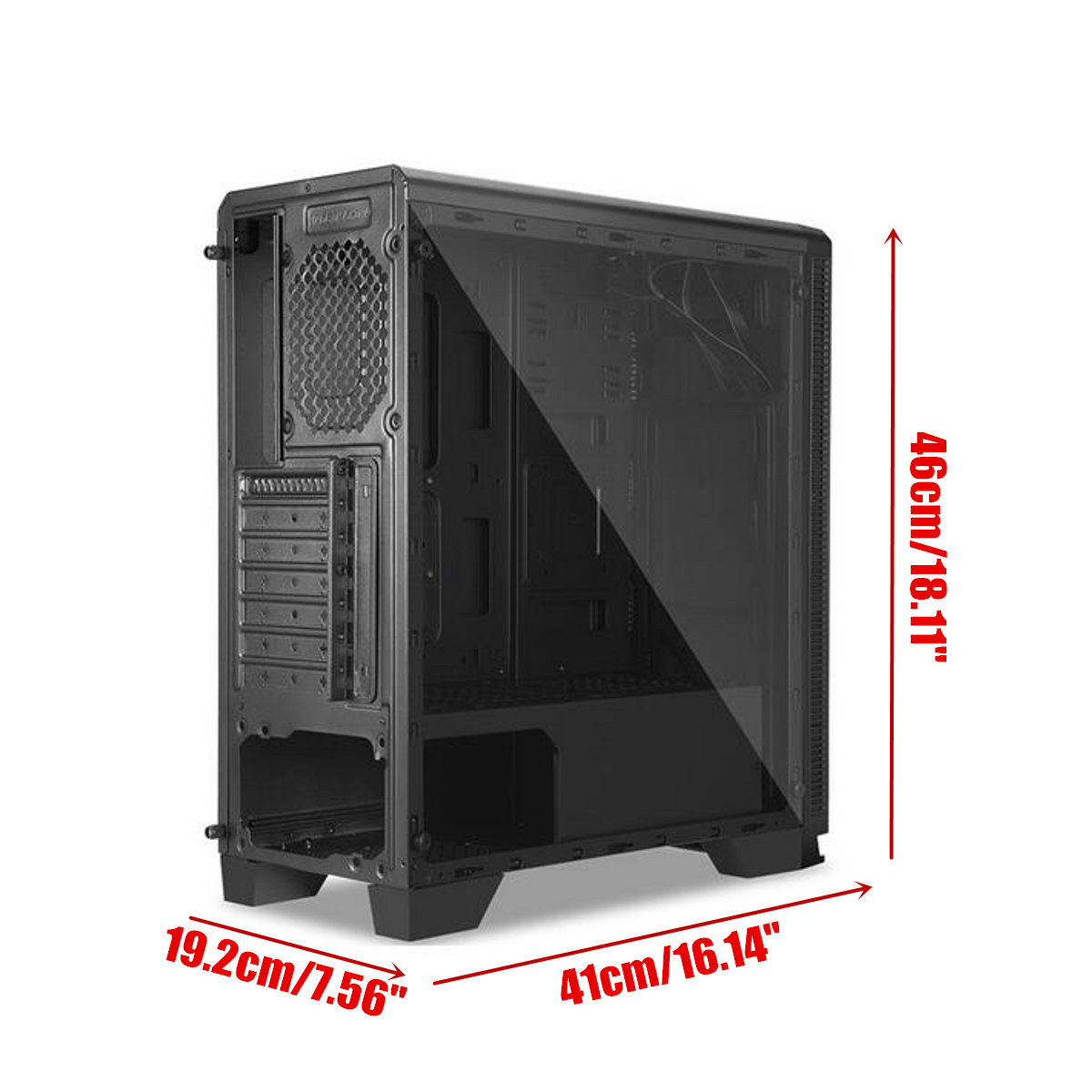 Case Pc Segotep Halo7 Plus Usb3 Gaming Tempered Computer Case Pc Atx M Atx Itx Mid Tower Desktop Chassis