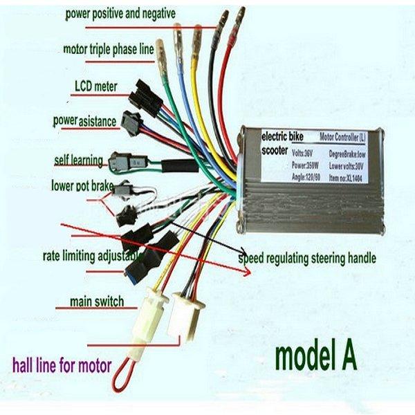 24v36v48v250w350w motor brushless controller lcd display front light